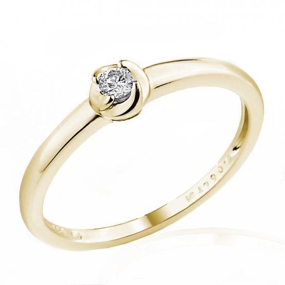 Zásnubní prsten Norin s diamantem, žluté zlato