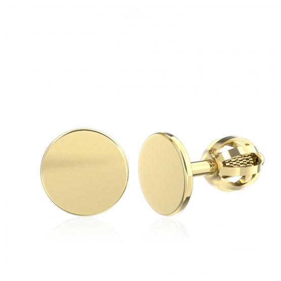Minimalistické náušnice IDOL Circle, žluté zlato