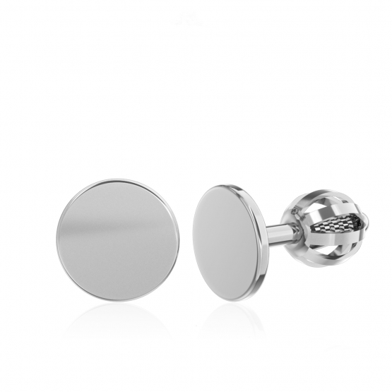 Minimalistické náušnice IDOL Circle, bílé zlato