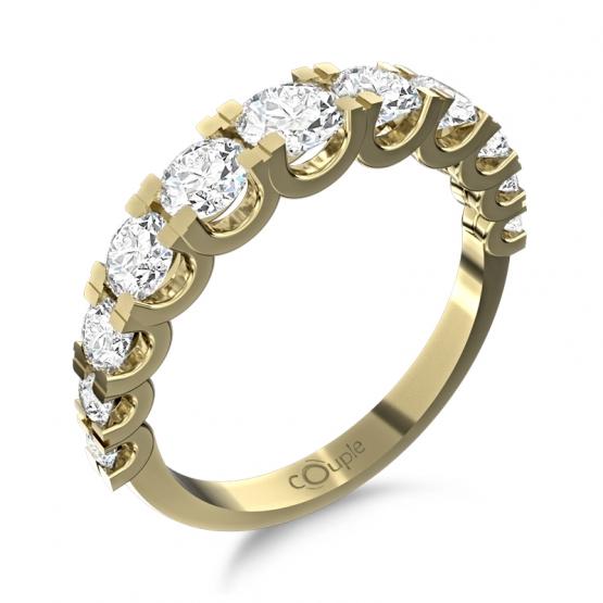 Couple, Nepřehlédnutelný prsten Avril, žluté zlato s brilianty