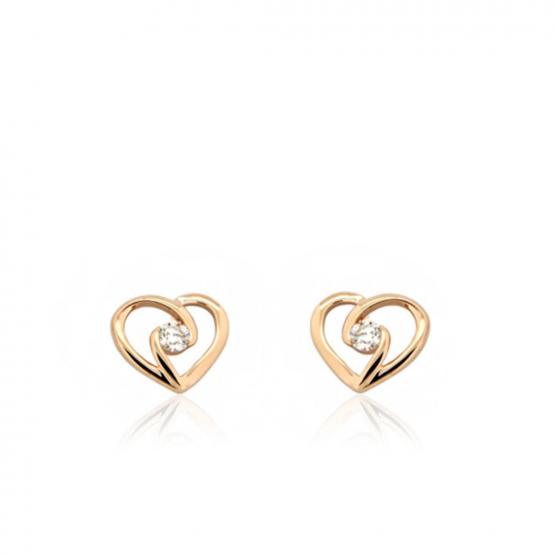 Diamantové náušnice Hettie, růžové zlato brilianty