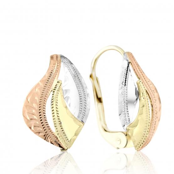Luxur, Visací náušnice Molly v kombinovaném zlatě