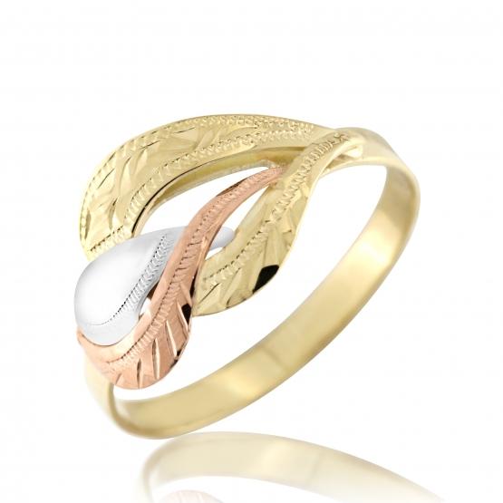 Kombinovaný prsten Sisi ve žlutém zlatě