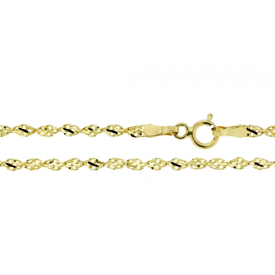 Luxur, Stylový řetízek Milo, typ twist ve žlutém zlatě