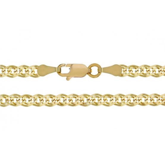 Nápadný řetízek Cadea typu rombo, žluté zlato