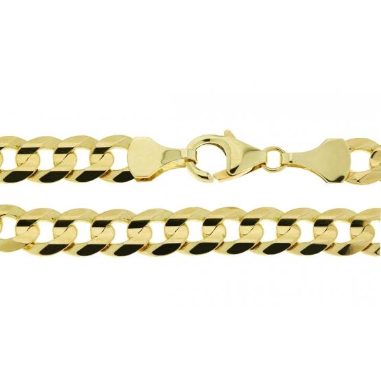 Výrazný řetěz ze žlutého zlata