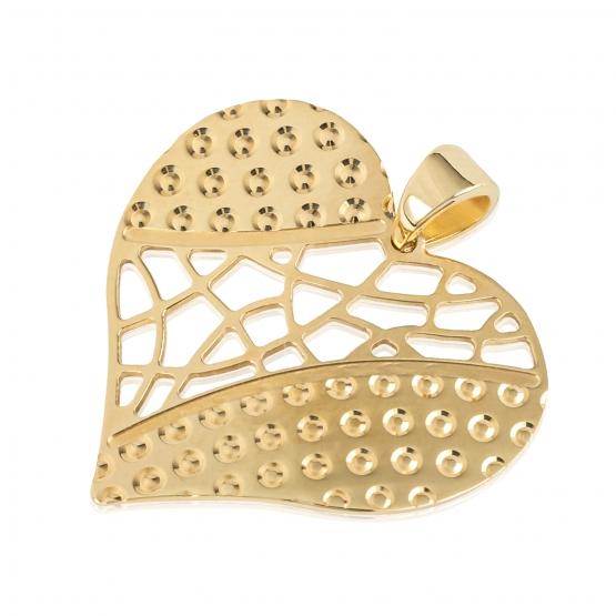 Luxur, Oboustranný přívěsek Srdce ze žlutého zlata
