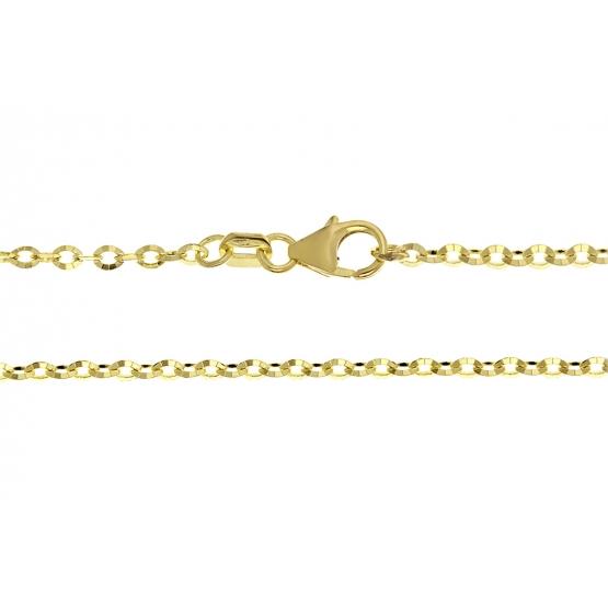 Přívěskový řetízek s diamantovým brusem, žluté zlato