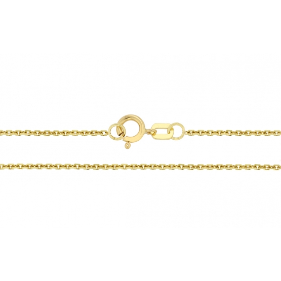 Přívěskový řetízek, žluté zlato – vzor anker