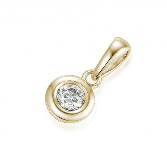 Gems, Decentní přívěsek Riva, žluté zlato s briliantem
