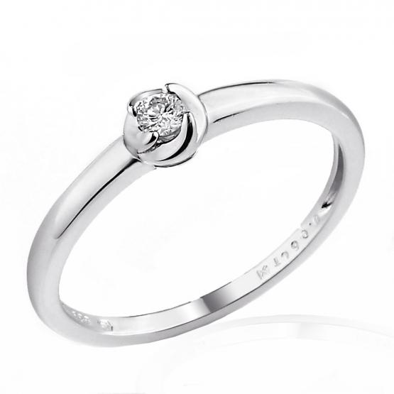 Zásnubní prsten Norin s diamantem, bílé zlato