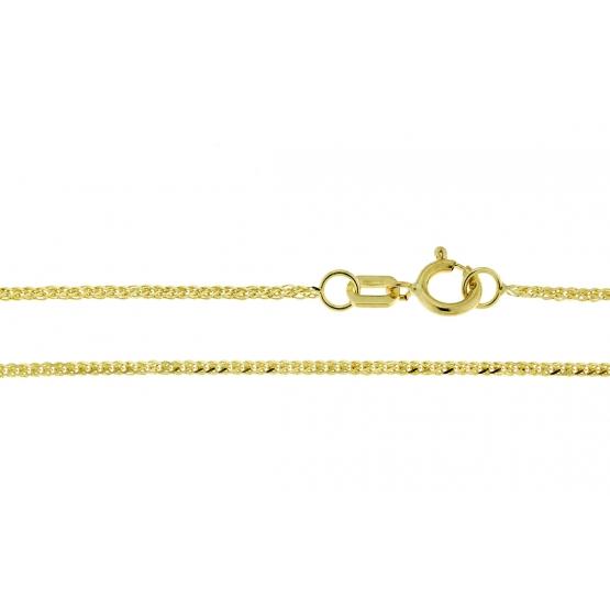Zdobený řetízek Sia ve žlutém zlatě