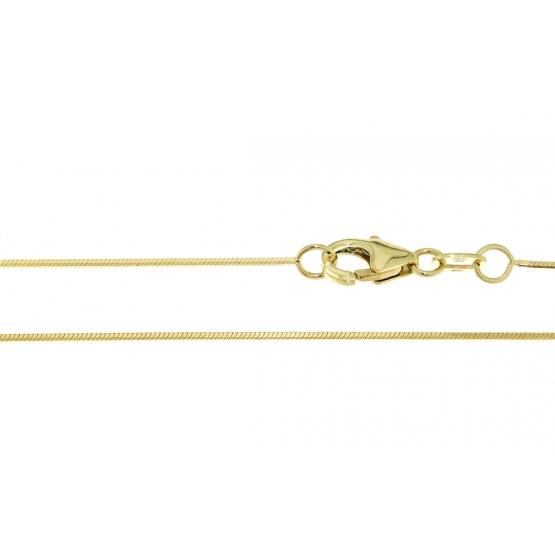 Přívěskový řetízek s diamantovým brusem ve žlutém zlatě