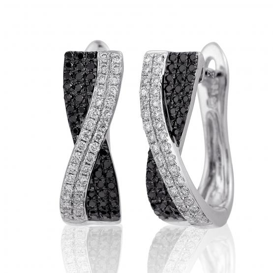 Gems, Diamantové náušnice Darin v bílém zlatě s brilianty