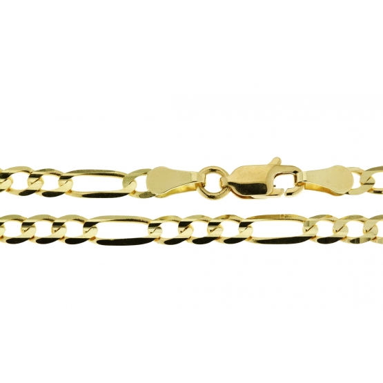 Výrazný řetízek Parturi typu figaro, žluté zlato