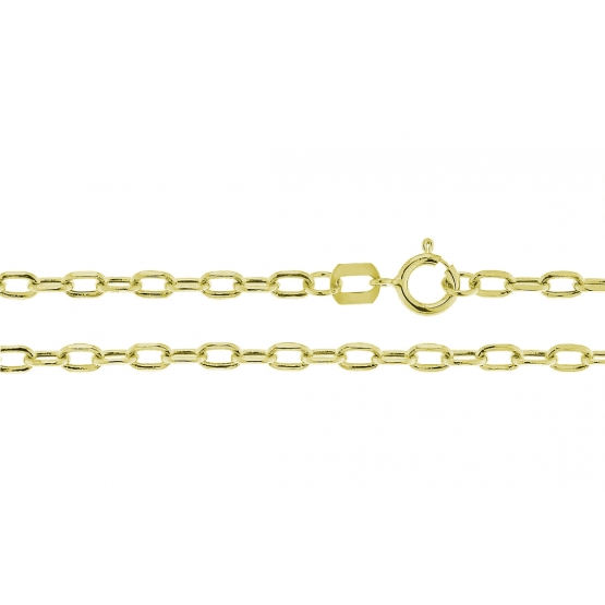 Elegantní řetízek ze žlutého zlata, přívěskový