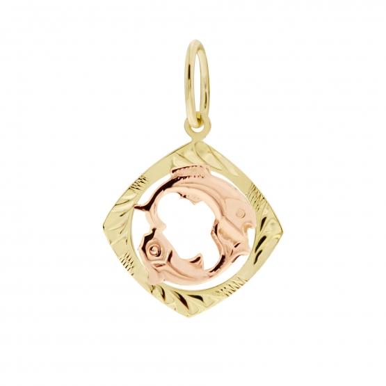 Zvěrokruh – přívěsek ve tvaru znamení ze žlutého zlata