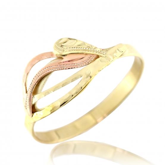 Kombinovaný prsten Mika, žluté a červené zlato