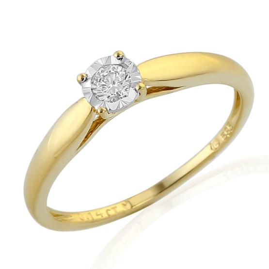 Zásnubní prsten Vezulli v kombinovaném zlatě s brilianty
