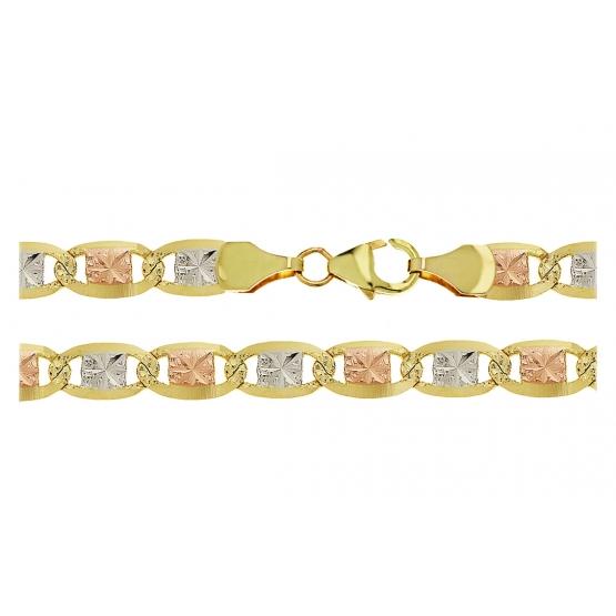 Netradiční řetěz Miko, žluté zlato
