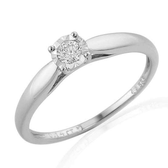Zásnubní prsten Vezulli v bílém zlatě s brilianty