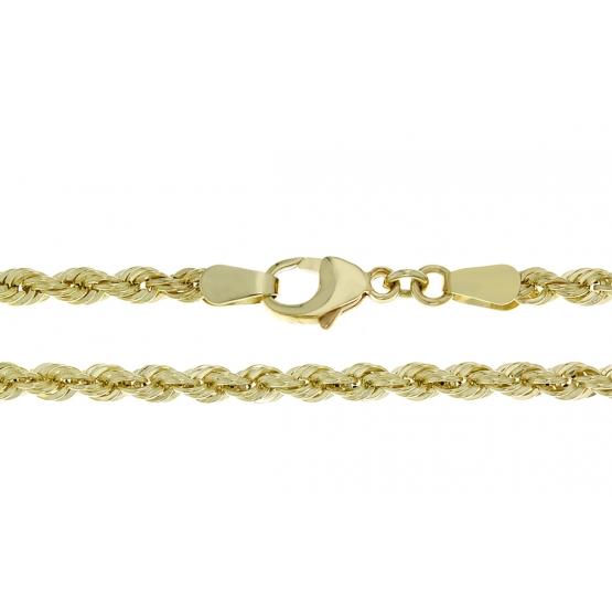 Dámský náhrdelník ze žlutého zlata, vzor walis
