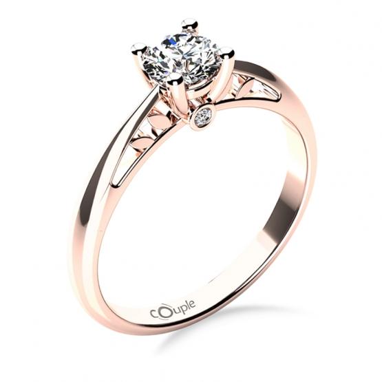 Zásnubní prsten Jodie, růžové zlato a zirkony