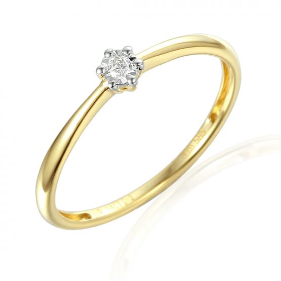 Zásnubní prsten Etienne, kombinované zlato a briliant