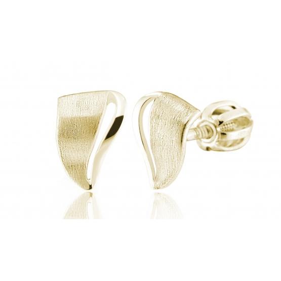Náušnice Nira – pecky ze žlutého zlata